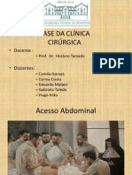Acesso Abdominal - UNIR- Base da Clínica Cirúrgica
