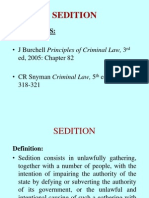Lecture 3 - Sedition Obstruction