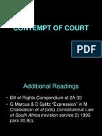 Lecture 4 - Contempt of Court