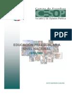Educacion Preescolar Nivel Nacional 1970-2005
