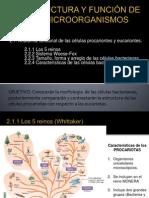 I. Estructura y función de microorganismos