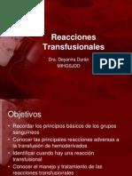reacciones transfusionales