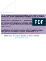 FMP EXCULPA A MINISTRA DE SALUD