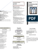 Church Bulletin- October 2012