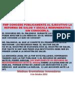 ASESORIA LEGAL DE LA FMP ESTA FALLANDIO