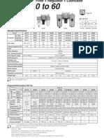 ACx0 Unidad deMtto Filtro + regulador +Lubricador