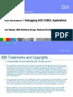 RDz Workbench - Debugging zOS COBOL