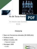 Rx de Torax Portátil