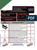 Catalogo Mobiliario Medico Nacional Muebles de Linea y Norma Imms