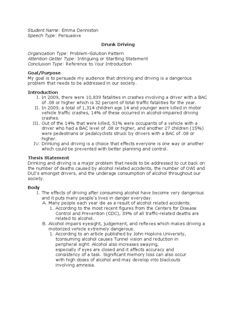 essay about alcohol and driving Underage drinking and driving has essentially become an epidemic, rapidly developing among today's youth college culture has come to encourage drinking and driving through the places and people that surround the students (national institute on alcohol abuse and alcoholism, october 2002.
