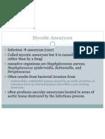 Mycotic Aneurysm
