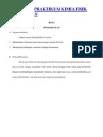 Laporan Praktikum Kimia Fisik Viskositas