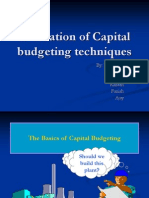 Evaluation of Capital Budgeting Techniques