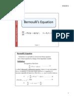 Bernoulis Equation
