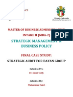 Bayan Group Strategic Audit - Case Study