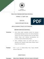 2010-Perpres No 34 Th 2010 Ttg Badan Intelijen Negara