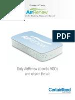 AirRenew Brochure Indoor Air Quality Gypsum Board