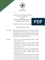 2011-Perpres No 64 Th 2011 Ttg Pemeriksaan Kesehatan Dan Psikologi Calon Tenaga Kerja Indonesia