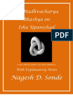 Sri Madhva's Bhashya on Isha Panishad Book