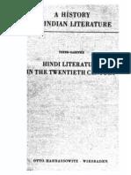 A History of Indian Literature Vol VIII Fasc 5. Hindi Literature in the Twentieth Century - J Gonda