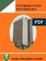 CSS 103 Introdution to Psychology