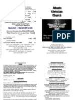 October 7, 2012 Church Bulletin