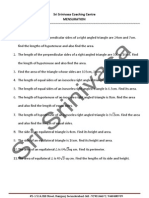 MENSURATION Worksheet for 8th Class