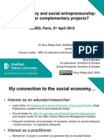 Social economy and social entrepreneurship