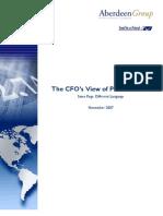 CFOs View of Procurement