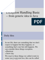 Exception Handling Basic in Java