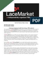 TEDxLaceMarket Partners Press Release