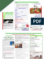 Triptico I Jornadas Nutricion e Hidratacion