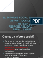El informe social niñez