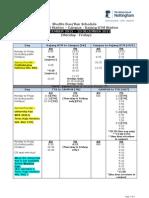 Shuttle Bus Schedule (10 SEPT 2012 - 23 DEC 2012)