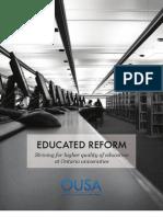 Ontario Undergraduate Student Alliance (OUSA) - Educated Reform