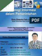 Tekonologi Informasi Dalam Pemerintahan (Konsep Egov)