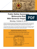 IAFF-MG PFFM Motorcycle Ride With Gov King Flyer