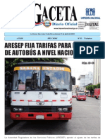 Tarifas de Buses 2012