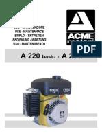 Acme Motori A220-A230 Operating Instrux