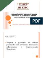 Publicação de artigos científicos em periódicos brasileiros na área de Representação Descritiva
