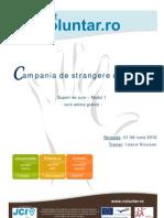 Campania de Strangere de Fonduri - Suport de Curs - Modul 1