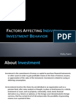 Factors Affecting Individual Investment Behavior