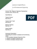 Radio & Television Engineering-HW (Group-B4)