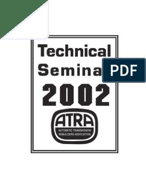 Atra Seminars | Transmission (Mechanics) | Manual Transmission