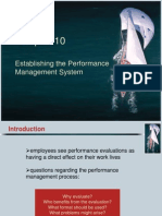 Establishing Performance Management System