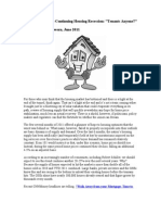 Reverse the Continuing Housing Recession
