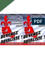 Tract devenez Royaliste
