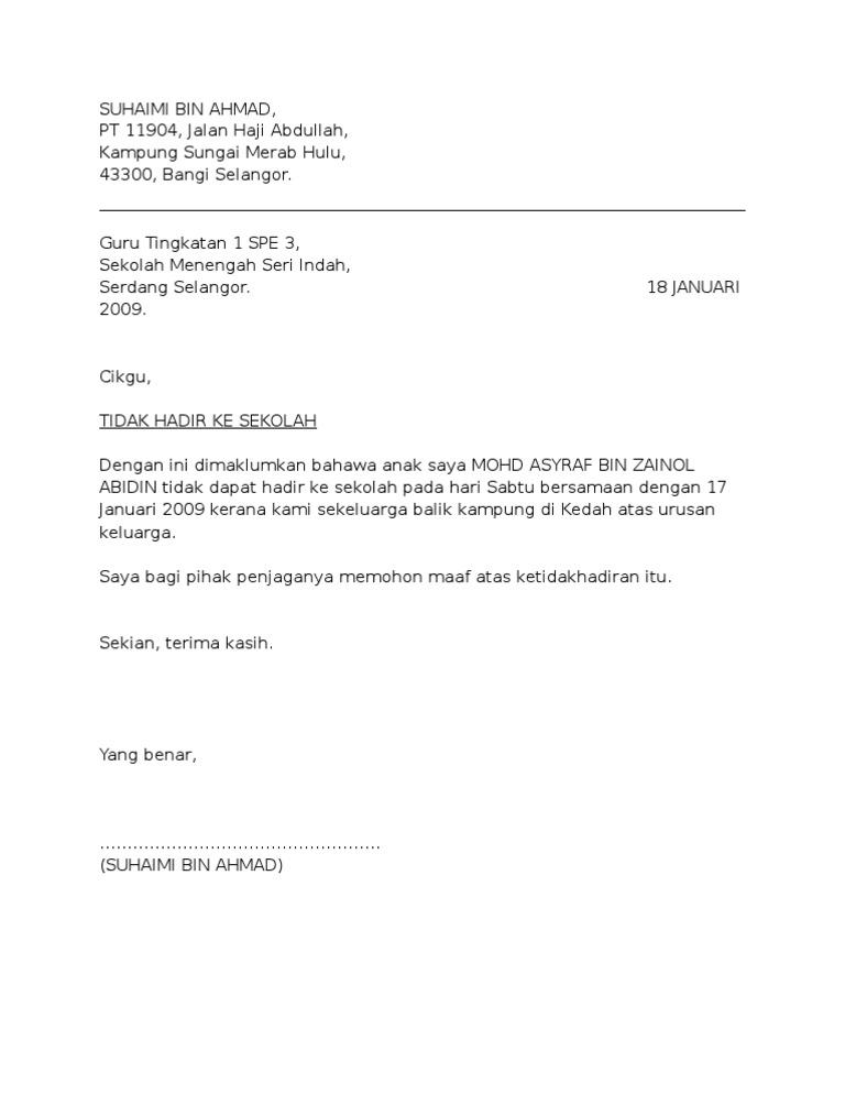 Contoh Surat Rasmi Docx - Contoh Bee