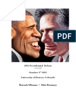 2012 Presidential Debate (Transcript)