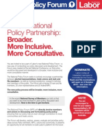 National Policy Forum Fact Sheet